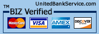 verified visa, mastercard, amex, and
