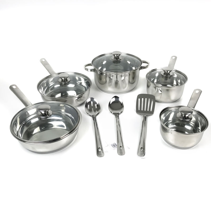 12 Piece Stainless Steel Cookw...