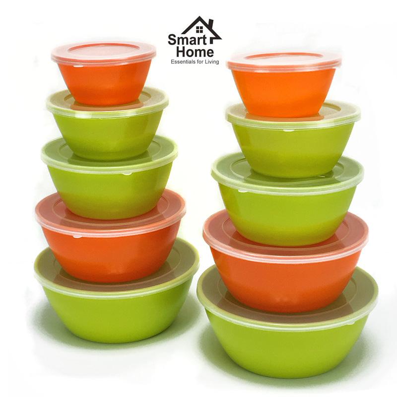 20 Piece Melamine Nesting Mixing Storage Bowls Set by Smart Home