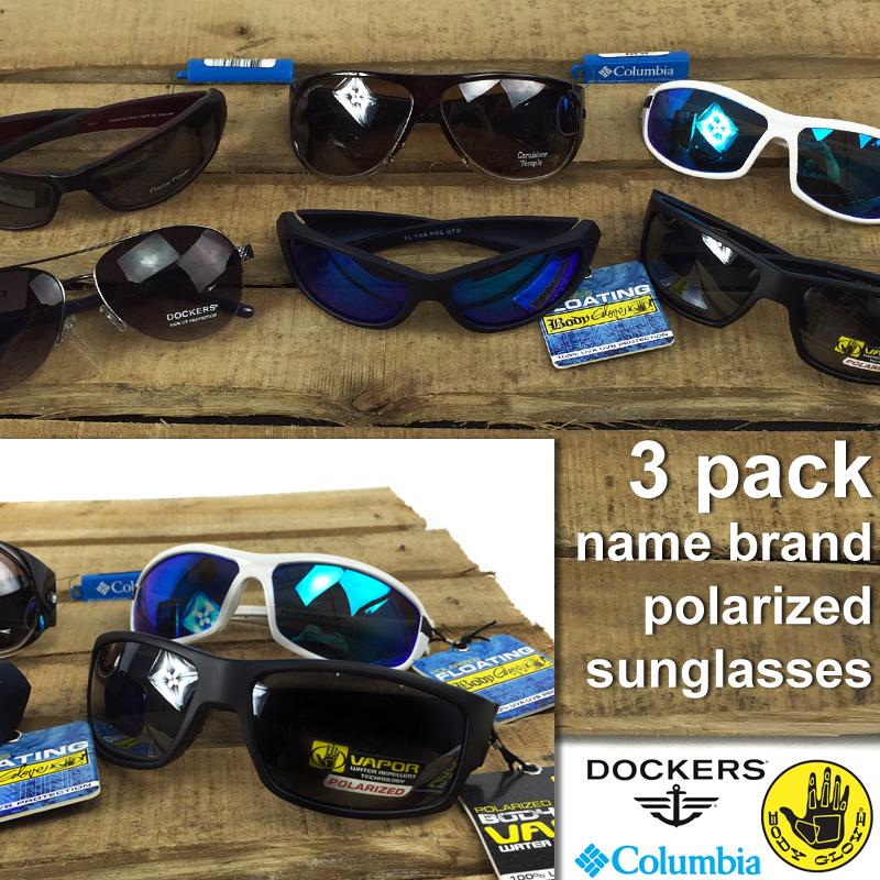 3 Pack Men's Or Women's Name Brand Polarized Sunglasses