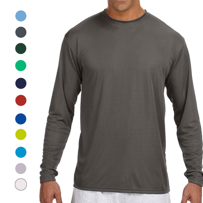 5-Pack of Moisture Wicking Long Sleeve T-Shirts (Assorted Colors)