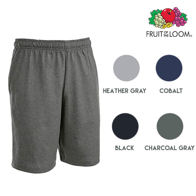 6-Pk Fruit of The Loom Moisture Wicking Men's Jersey Shorts