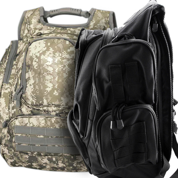 Tactical Laptop Backpack With Hide Away Rain Hood