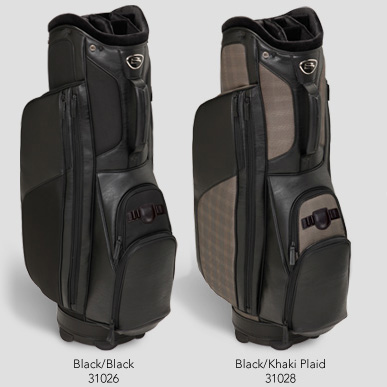 Burton Executive Leather And Canvas Golf Bag Ships Free