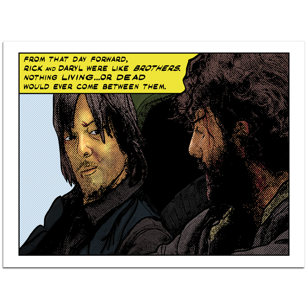 The-Walking-Dead-Inspired-BROTHERS-Pop-Art-POSTER-OR-Canvas-24999-Ships-Free