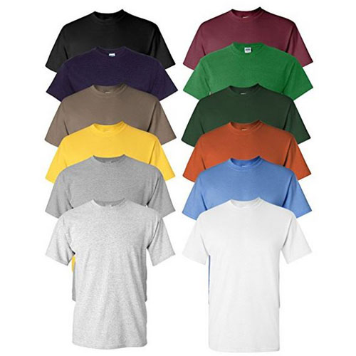 6-Pack Men's Performance Moisture Wicking Short Sleeve T-Shirts