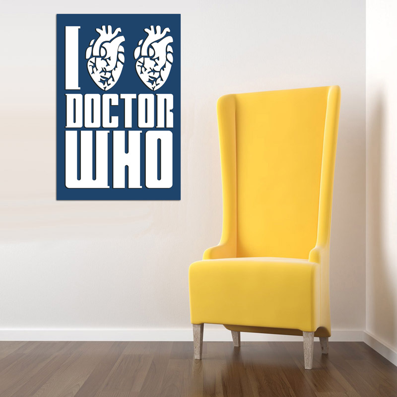 I Heart Heart Doctor Who Available As A Poster Or Vinyl