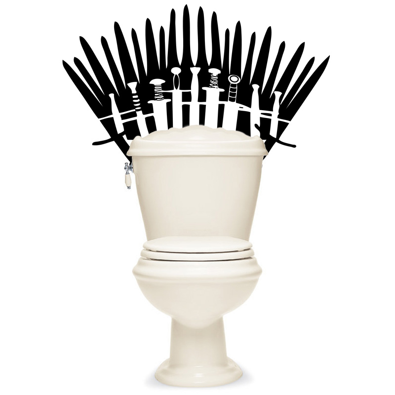 Game Of Thrones Inspired Re Positionable Toilet Decal Ships Free