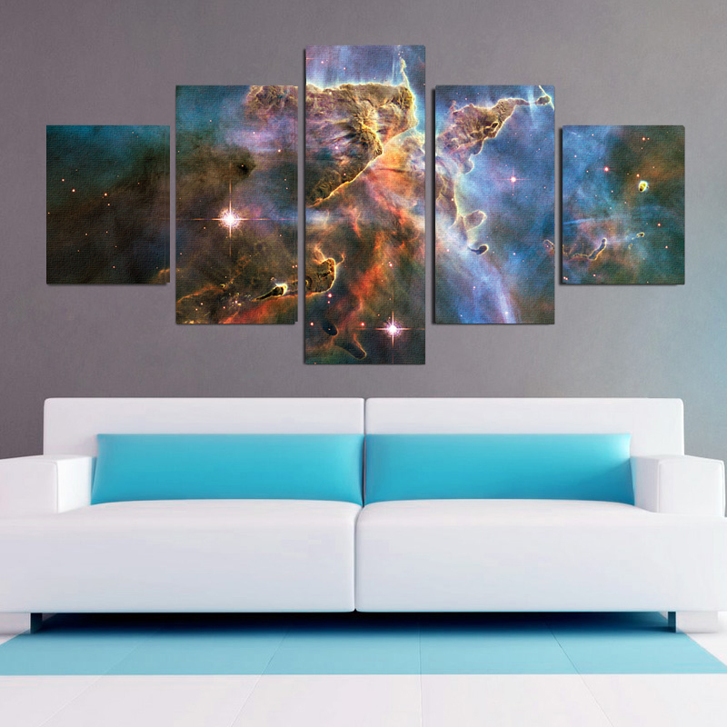 Carina nebula 5 piece canvas wall art set 13 deals for Wall artwork paintings