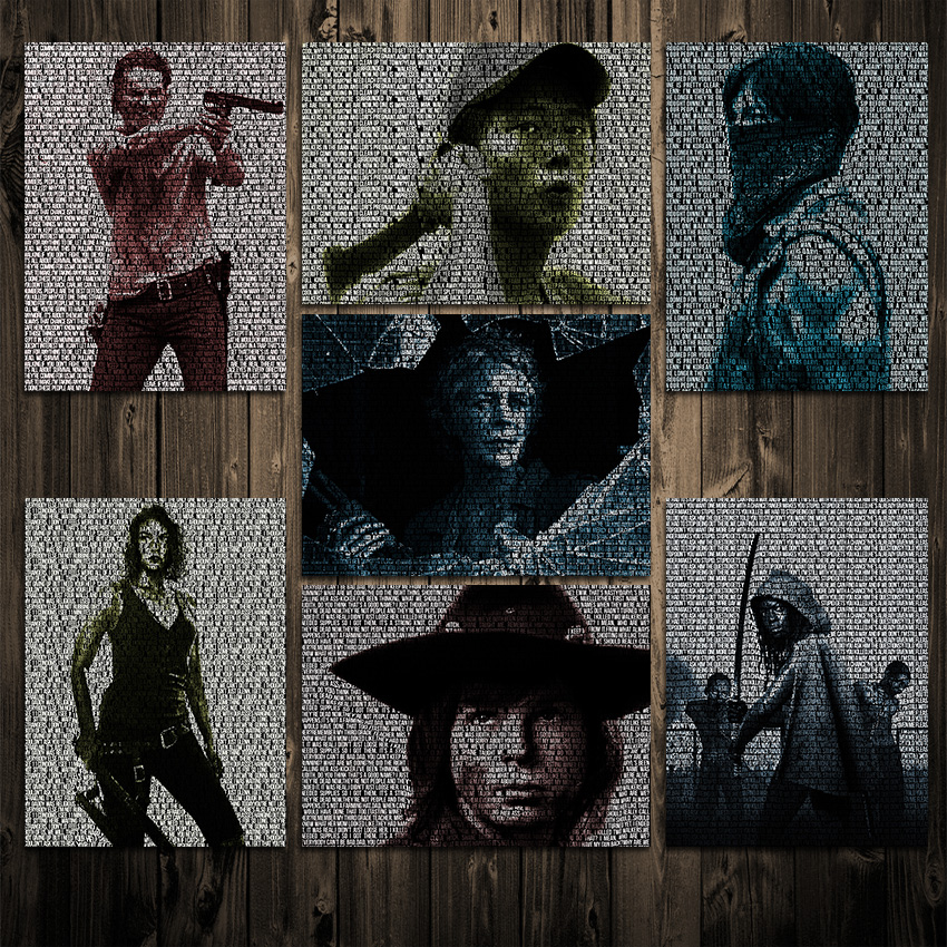 The Walking Dead Inspired Quotes Series - Poster OR Canvas - SHIPS FREE!
