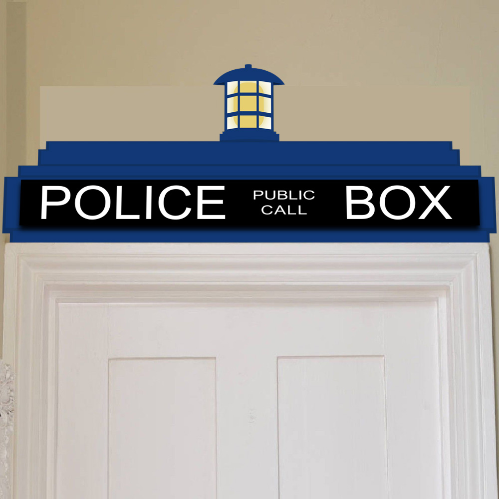Doctor Who Inspired Tardis Door Topper Wall Cling - SHIPS FREE! - 13 Deals  sc 1 st  13 Deals & Doctor Who Inspired Tardis Door Topper Wall Cling - SHIPS FREE! - 13 ...