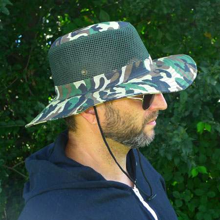 FLASH SALE  - Vented Camo Boonie Hat - Keep Your Head Cool... And Hidden - Your getting a great deal on these because we will be selecting the color at random - Order 3 or more for just $3.33 each! SHIPS FREE