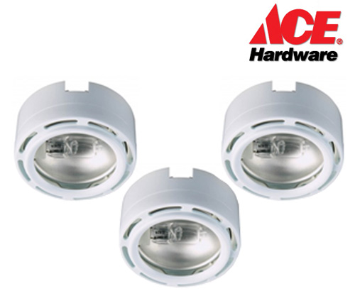 Ace Hardware 3 Pack Xenon Under Cabinet Puck Light System