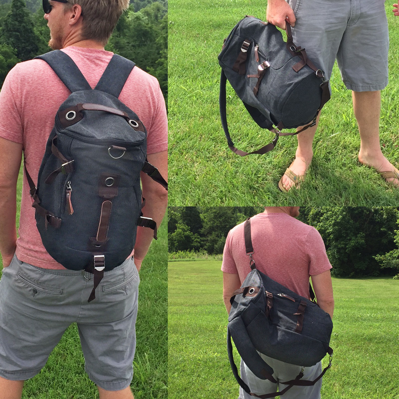 Backpack And Duffel Bag Available In Vintage Grey Desert Canvas Colors Ships Free 13 Deals