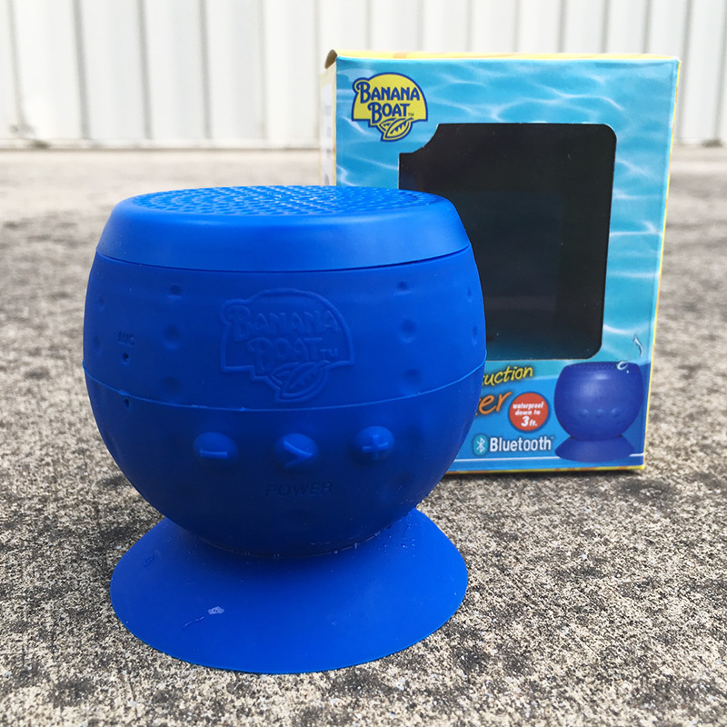 Insane Freebie Banana Boat Waterproof Suction Bluetooth Speaker Great For The Shower Pool