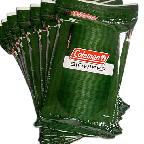 8 Pack Of Coleman Biowipes 240 Large Wipes 100