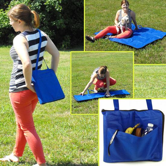 Folding Carry-Along Zippered Blanket / Bag