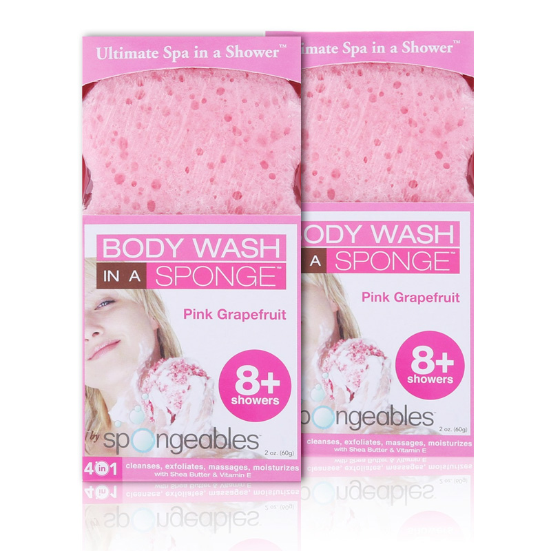 2 pack of women 39 s body wash in a sponge ultimate spa in for Abco salon supplies