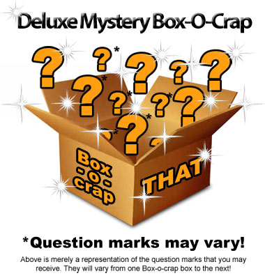 Deluxe Mystery Box With Optional Mystery T-Shirt - Only TWO Per Day are Sold