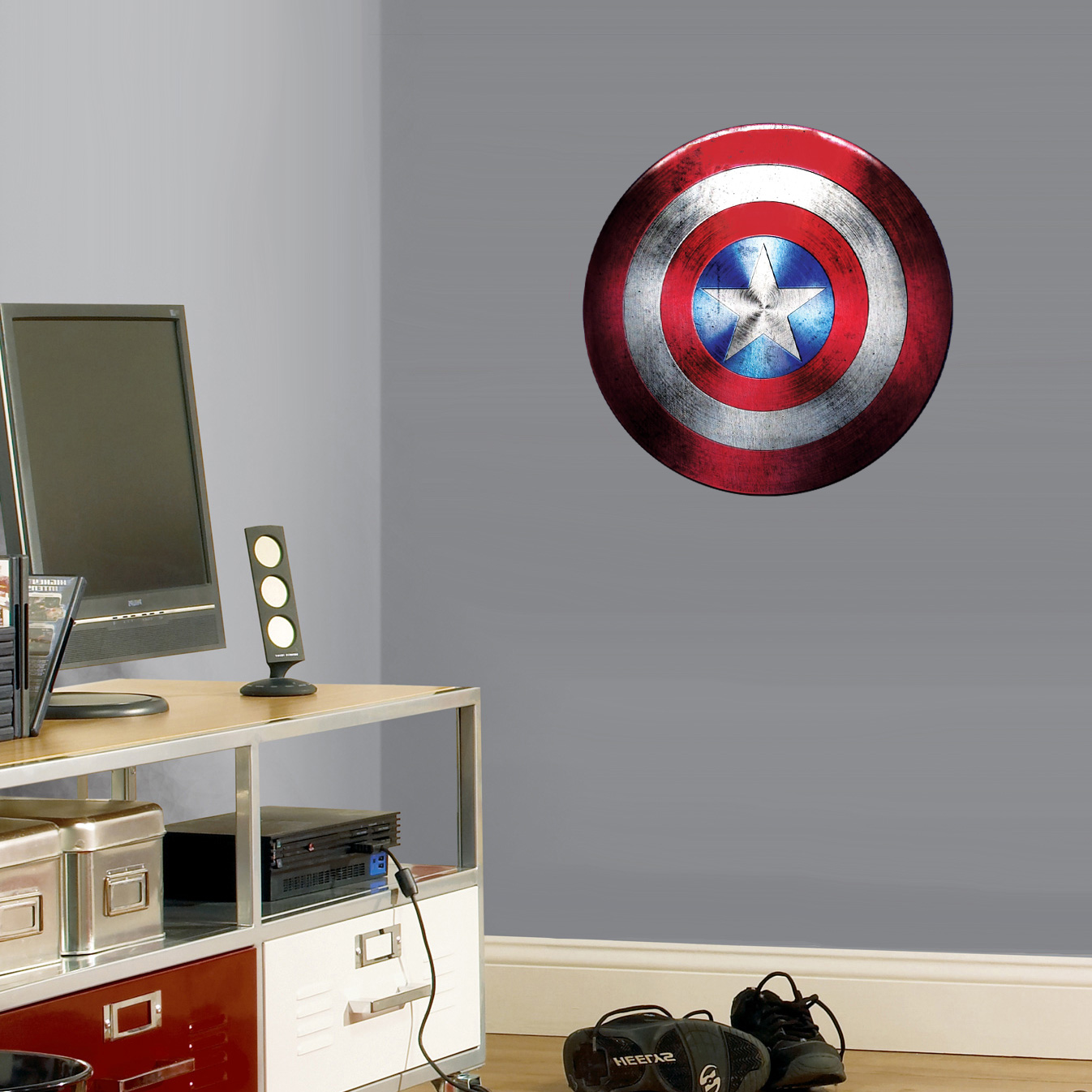 captain america shield large wall cling compare to fathead ships free