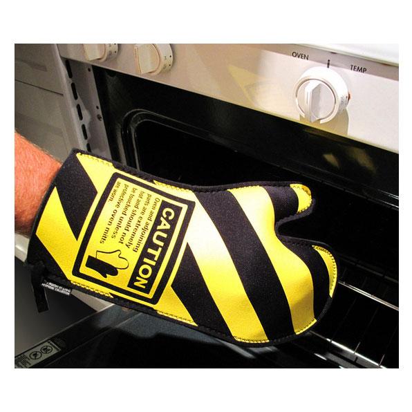 Caution Oven Mitt