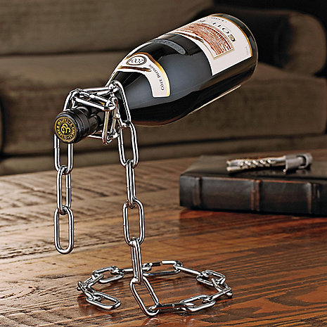 Magic-Chain-Floating-Wine-Bottle-Holder