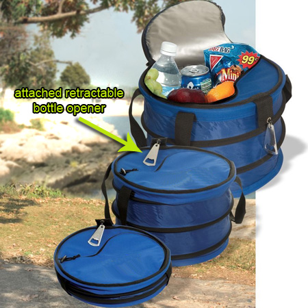 collapsible cooler w retractable bottle opener 13 deals. Black Bedroom Furniture Sets. Home Design Ideas