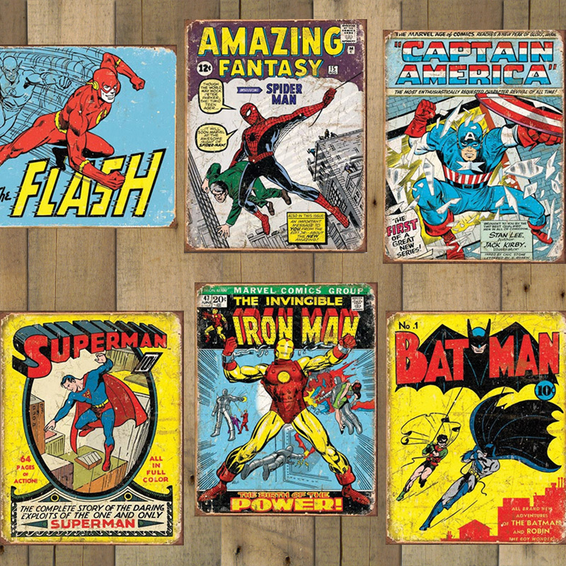 New Styles Available Officially Licensed Retro Comic Book Tin Signs Marvel And Dc Made In