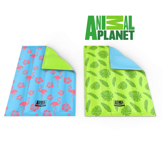 Animal Planet Self Cooling Gel Pet Cool Mat - Available in Flamingo and Leaf Patterns - SHIPS FREE!