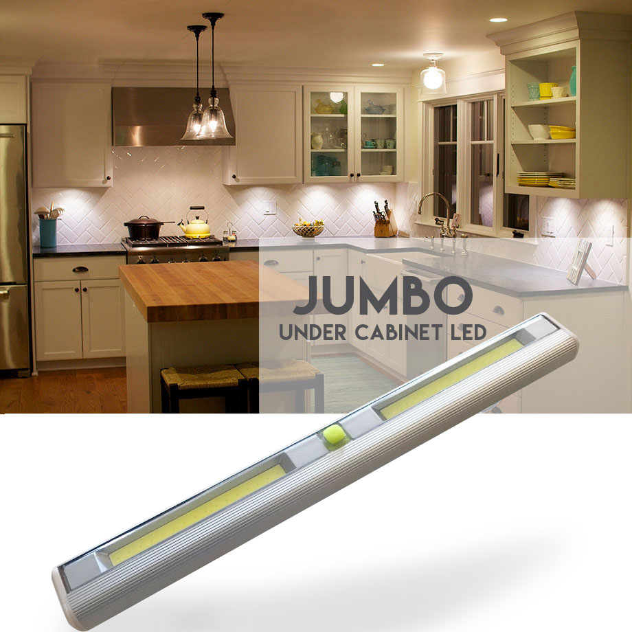 Jumbo Size Wireless Under Cabinet LED Light - See the video! Order 6 ...