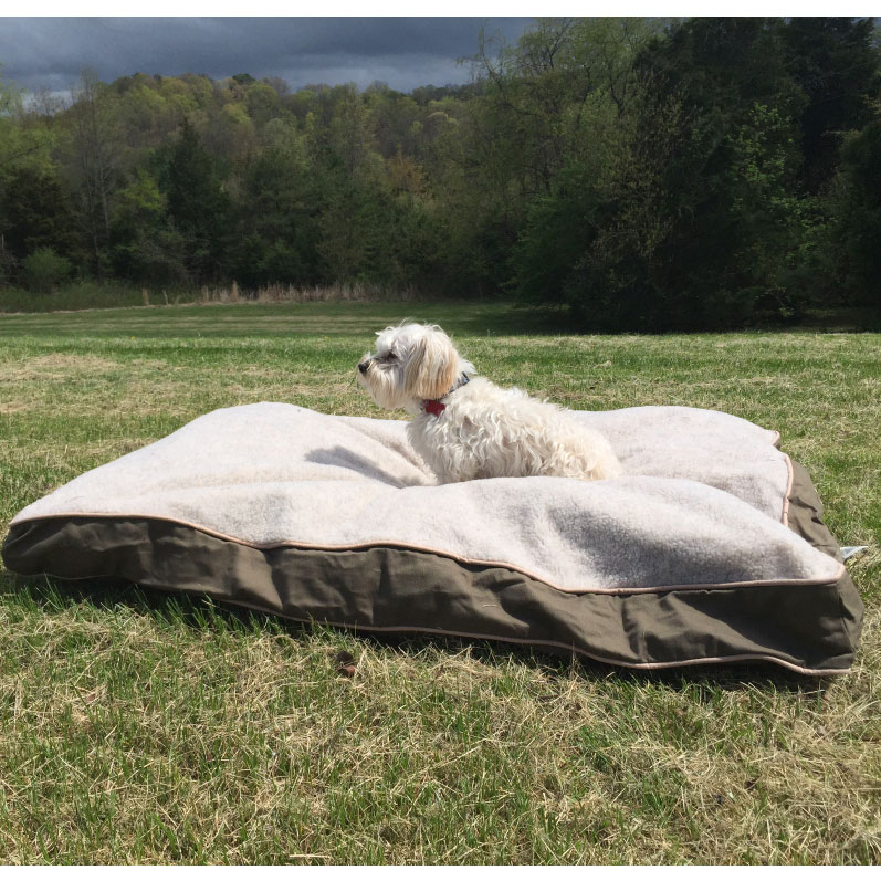 XL Sherpa Top 'Add Your Own Stuffing' Olive Green Dog Bed ...