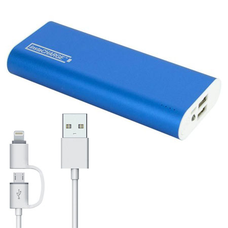 InstaCHARGE 9000mAh Portable Power Bank with 2 USB Charging Ports with Power Indicator