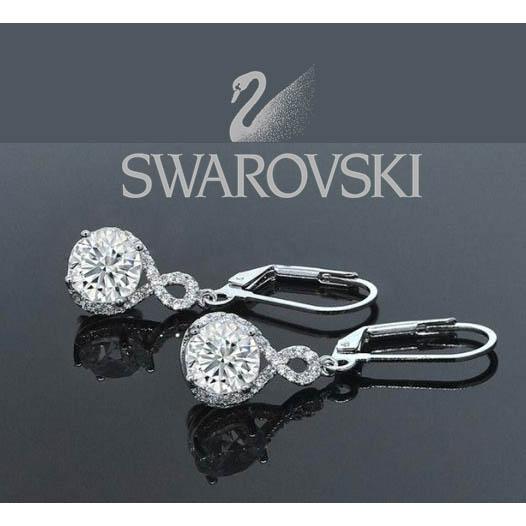 14da49a09f221 13 Deals - Infinity Crystal Drop Earrings Made with Swarovski ...