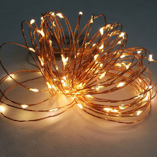 Primark Copper String Lights : Wireless 9 Foot Waterproof Micro LED String Lights with Timer in Warm White - Copper Or Silver ...