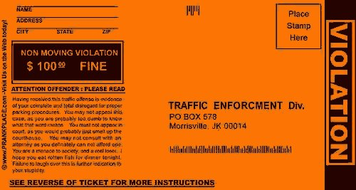 Prank parking tickets 13 deals for Free fake parking ticket template