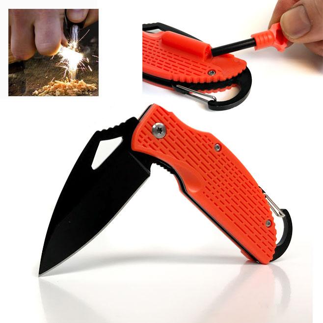 Survival Orange Pocket Knife W...