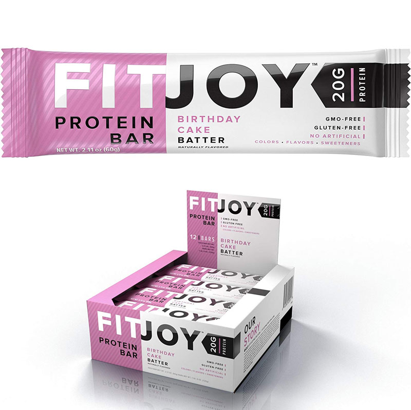 24 Pack Of FitJoy Protein Bars Low Carb Sugar Gluten Free High Snacks