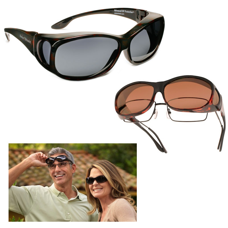 2 Pack Fit-Over Polarized Sunglasses For Men and Women