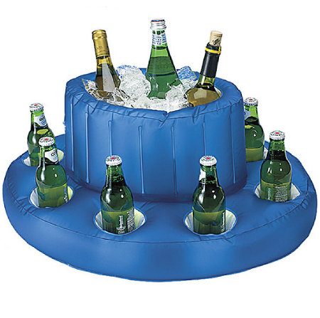 Inflatable Floating Ice Bucket Drink Holder Great For Patio Or