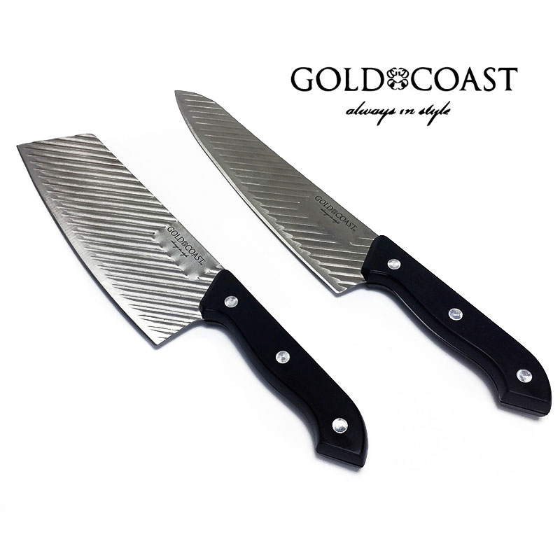 gold coast full tang knife set includes 12 inch chef 39 s knife and 11 5 inch cleaver ships. Black Bedroom Furniture Sets. Home Design Ideas
