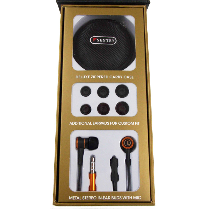 bee97513cad Sentry Gold Pro Metal Earbuds w/ In-Line Mic and Deluxe Case - 13 Deals