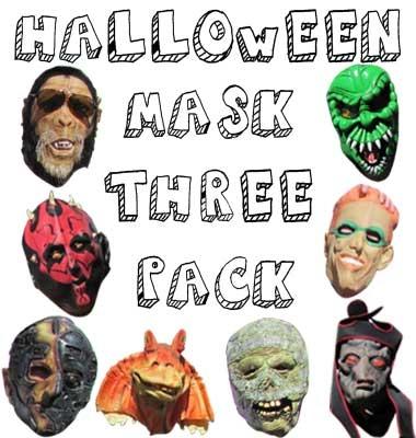 assorted halloween masks