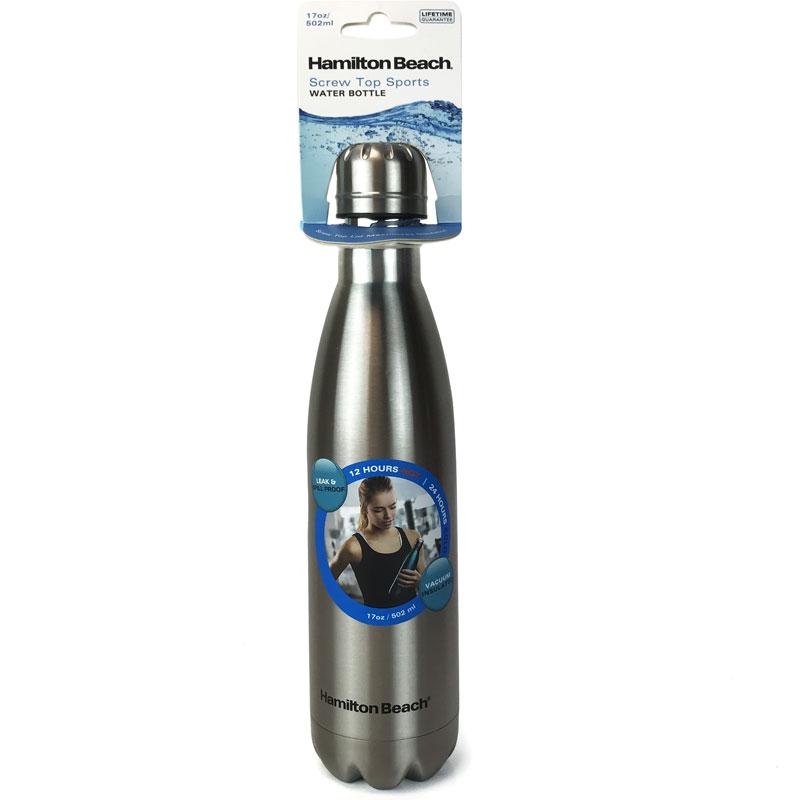 Hamilton Beach Stainless Steel Vacuum Insulated Screw Top