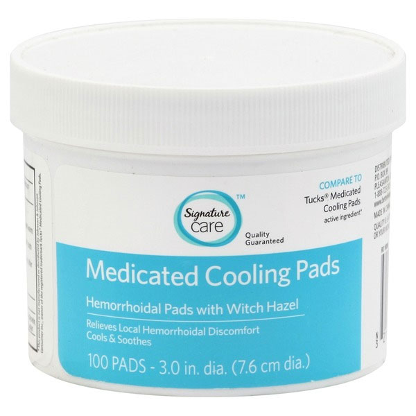 3 Pack of 100 Count Signature Care Hemorrhoidal Cooling Pads - Cooling Relief Right Where You Need It Most! These are just $5.99 per pack delivered, which is very, VERY cheap for these! SHIPS FREE!