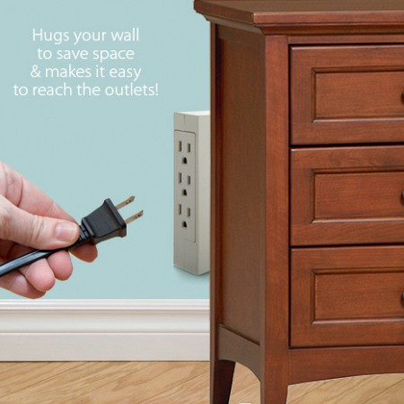 6 Plug Side Entry Wall Outlet.