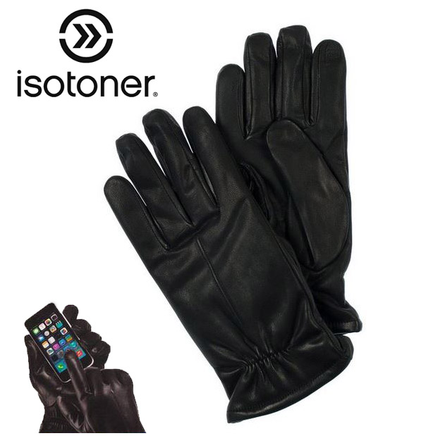 Isotoner-Genuine-Leather-SmarTouch-Gloves-241299-Ships-Free