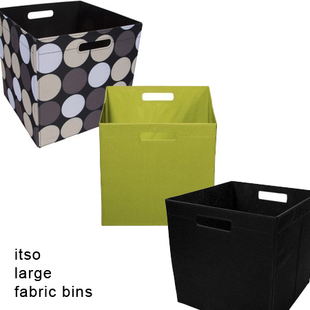 sc 1 st  13Deals & Itso Large Fabric Storage Bins - 3 Styles To Choose From! - 13 Deals