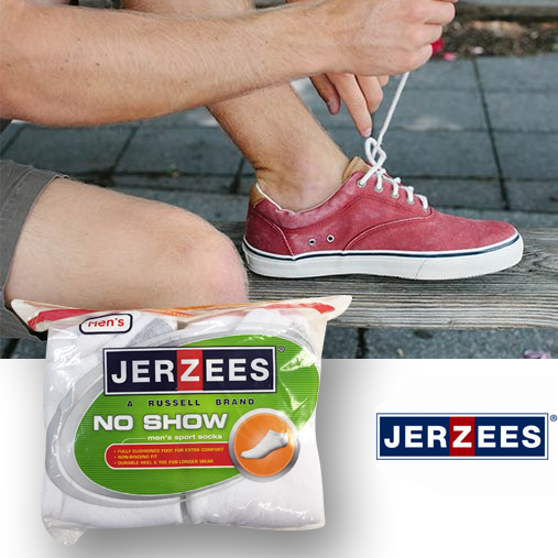 Jerzees Men's 10pack No-Show Socks
