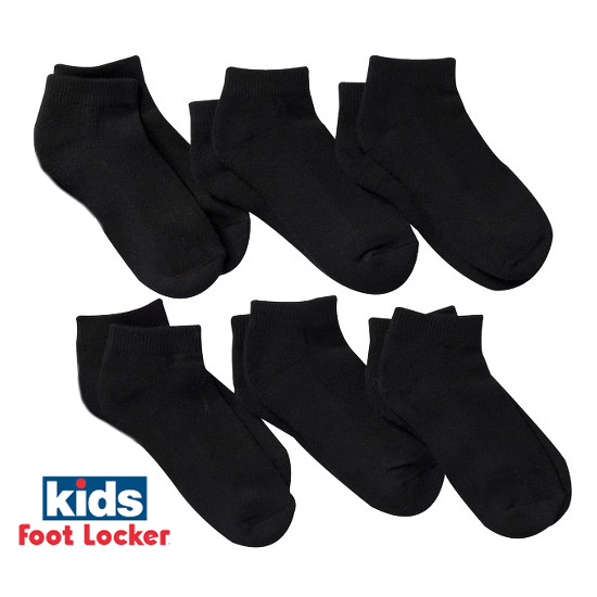 6 Pack Kids Foot Locker Low Cut Socks