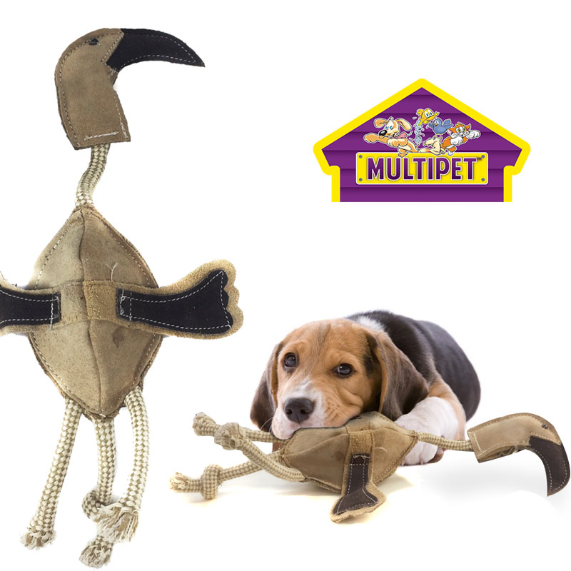 Multipet-Leather-12-Inch-Tough-Bird-Dog-Chew-Toy-24799-Ships-Free
